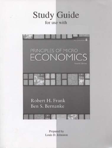 9780073362755: Study Guide for Principles of Microeconomics 4e