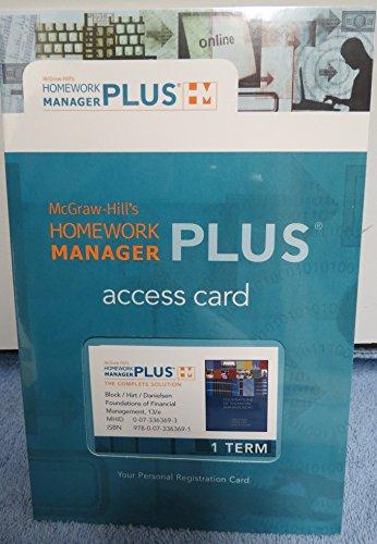 Foundations of Financial Management Access Card: 1: Block, Hirt, Danielsen