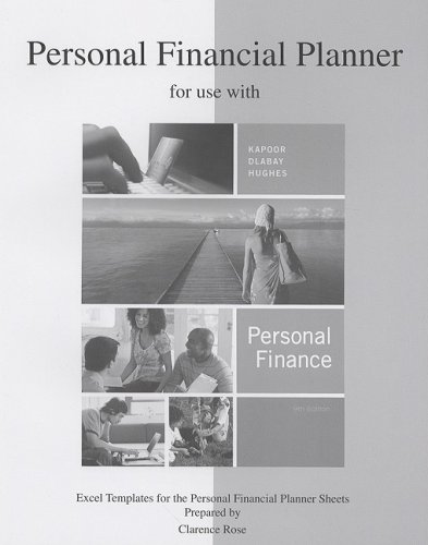9780073363929: Personal Financial Planner to accompany Personal Finance