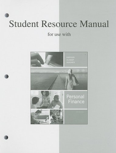 9780073363936: Student Resource Manual to accompany Personal Finance