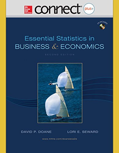 9780073364629: Connect Plus Access Card for Essential Statistics in Business and Economics