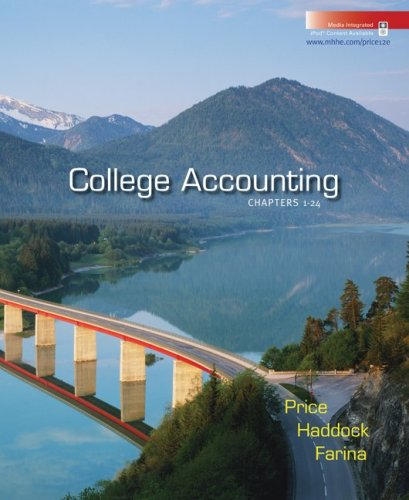 9780073365503: College Accounting Student Edition Chapters 1-24