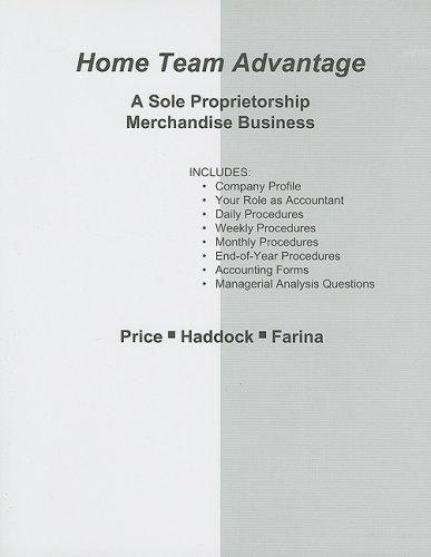 9780073365572: Home Team Advantage Practice Set: A Sole Proprietorship Merchandise Business