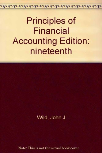 Principles of Financial Accounting: John J., Ken W. Shaw, and Barbara Chiapp