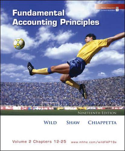 9780073366289: Fundamental Accounting Principles, Vol 2 (Chapters 12-25)