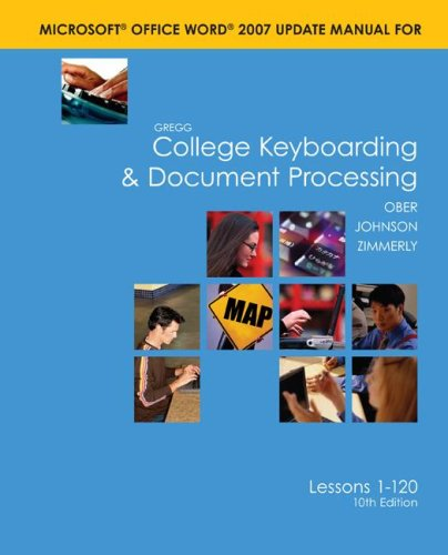 9780073368351: Word 2007 Manual t/a Gregg College Keyboarding & Document Processing (GDP); Microsoft Word 2007 Update