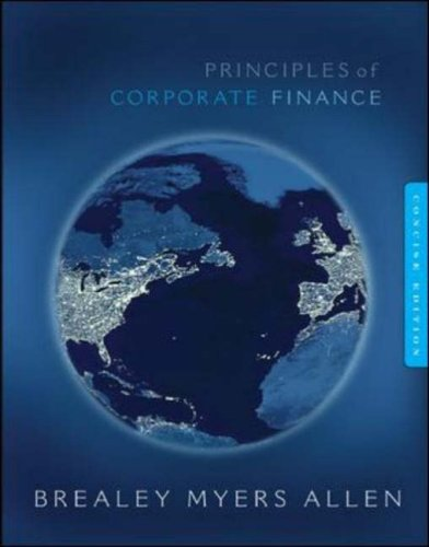 Principles of Corporate Finance Concise w/Bind-in Card--Mandatory: Richard A Brealey,