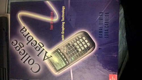 9780073369853: Algebra with Graphing Technology