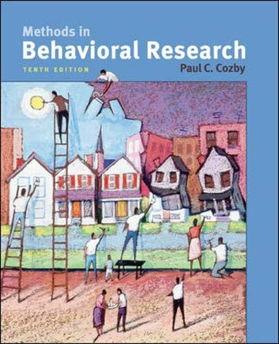 9780073370224: Methods in Behavioral Research