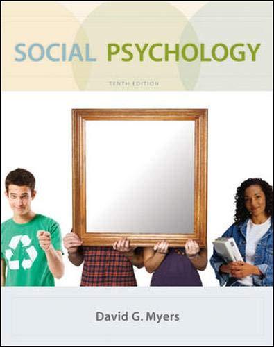 9780073370668: Social Psychology, 10th Edition