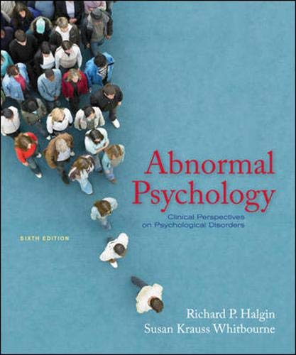 9780073370699: Abnormal Psychology: Clinical Perspectives on Psychological Disorders