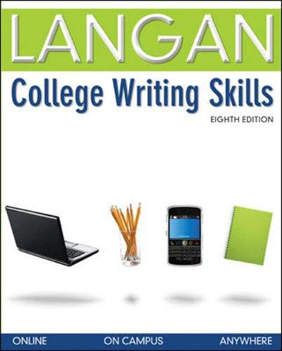 langan college writing skills John langan has taught reading and writing at atlantic community college near  atlantic city, new jersey, for over twenty years the author of a popular series.