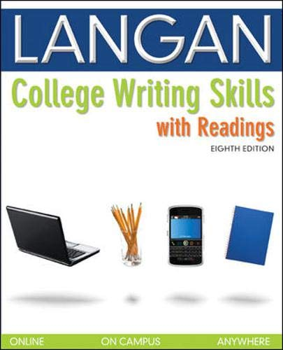 9780073371665: College Writing Skills with Readings
