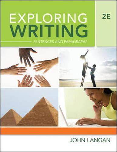9780073371863: Exploring Writing: Sentences and Paragraphs