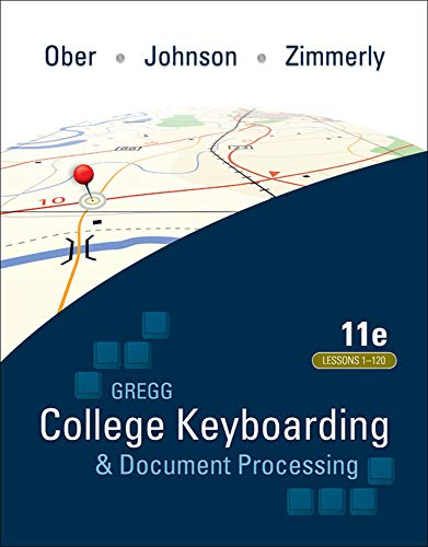 9780073372198: Gregg College Keyboarding & Document Processing (GDP); Lessons 1-120, main text