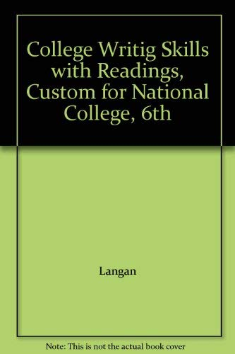 9780073372655: College Writing Skills with Readings (Custom published for National College)
