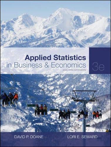 9780073373690: Applied Statistics in Business and Economics (The Mcgraw-Hill/Irwin Series, Operations and Decision Sciences)