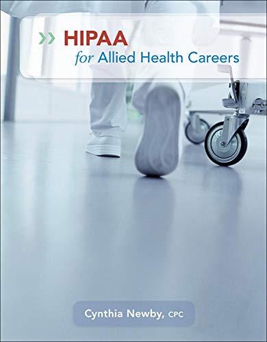 9780073374123: HIPAA for Allied Health Careers