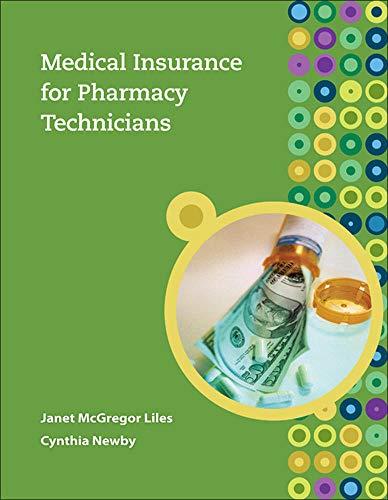 9780073374161: Medical Insurance for Pharmacy Technicians
