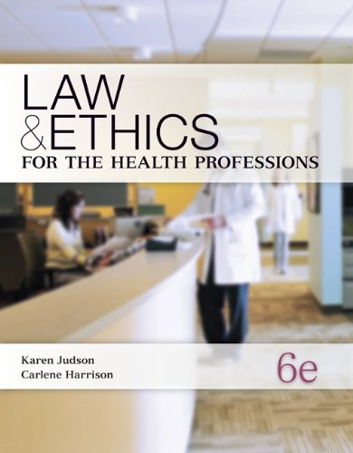 9780073374710: Law & Ethics for the Health Professions (P.S. Health Occupations)