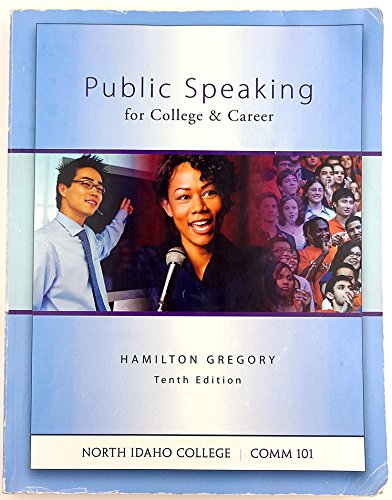 9780073375052: Public Speaking for College and Career North Idaho College Comm 101