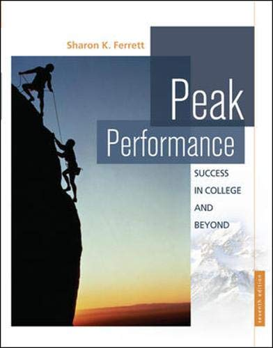9780073375120: Peak Performance: Success in College and Beyond