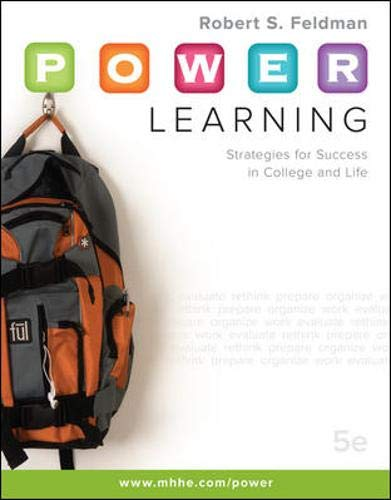 9780073375168: P.O.W.E.R. Learning: Strategies for Success in College and Life