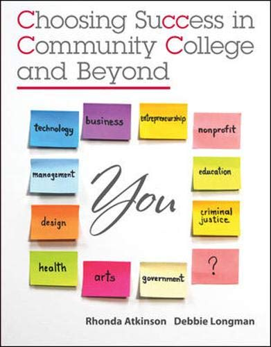 9780073375182: Choosing Success in Community College and Beyond