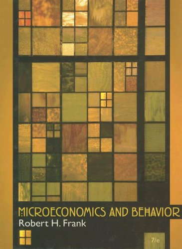 9780073375731: Microeconomics and Behavior, 7th Edition