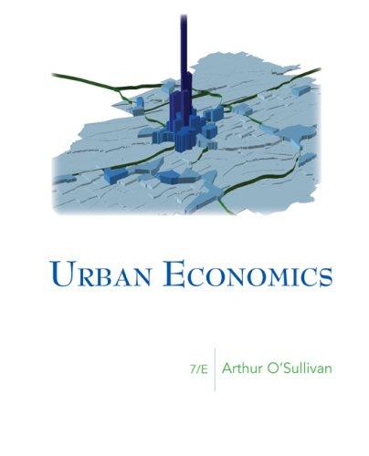 9780073375786: Urban Economics (McGraw-Hill Series in Urban Economics)