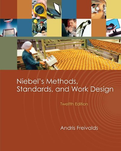 9780073376318: Niebel's Methods, Standards, & Work Design