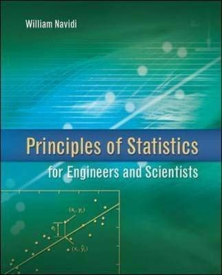 9780073376349: Principles of Statistics for Engineers and Scientists