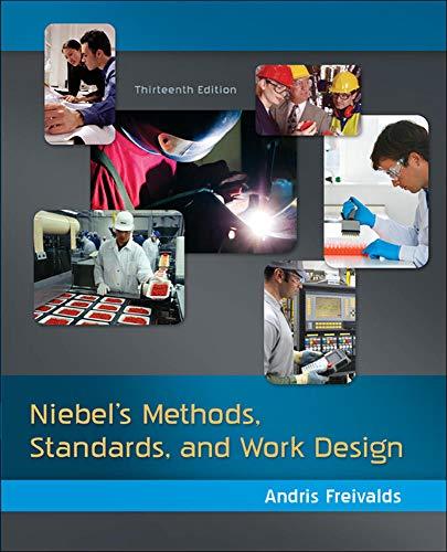9780073376363: Niebel's Methods, Standards, & Work Design