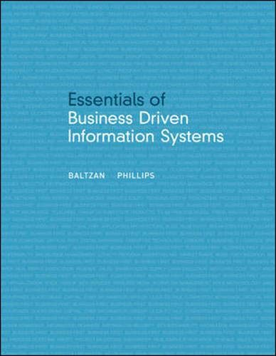 9780073376721: Essentials of Business Driven Information Systems