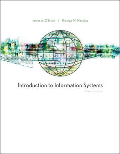 9780073376776: Introduction to Information Systems, 15th Edition