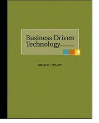 9780073376790: Business Driven Technology