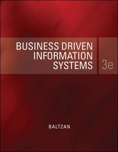 Business Driven Information Systems: Baltzan