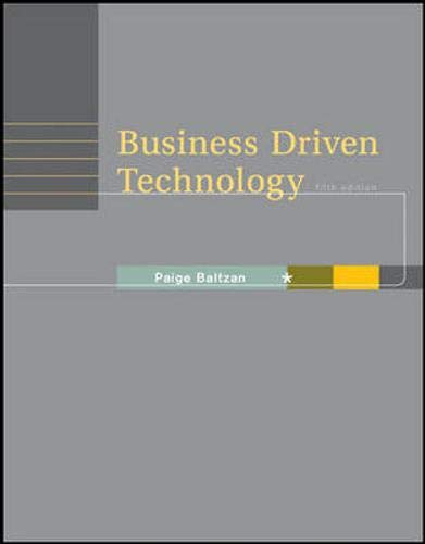 9780073376844: Business Driven Technology