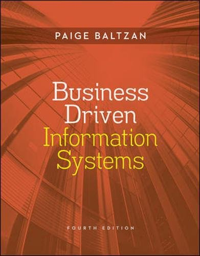 9780073376899: Business Driven Information Systems