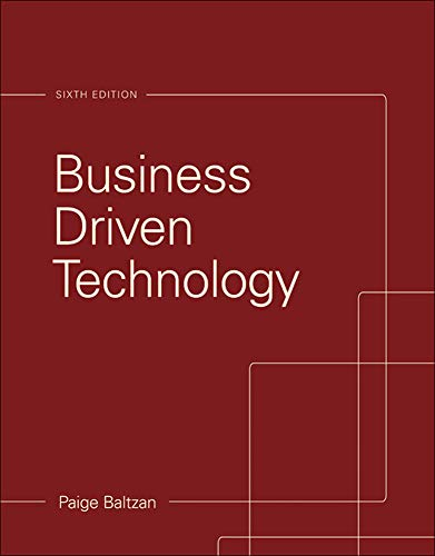 9780073376905: Business Driven Technology