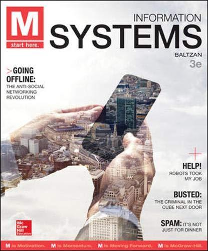 M: Information Systems: Baltzan Instructor, Paige