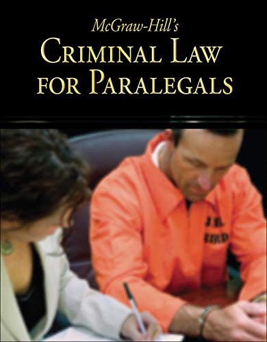 9780073376967: McGraw-Hill's Criminal Law for Paralegals