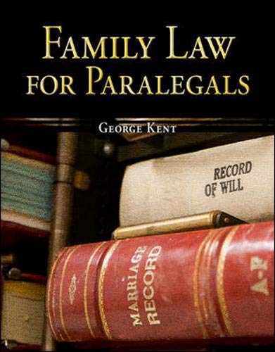 9780073376974: Family Law for Paralegals (The McGraw-Hill Paralegal List)