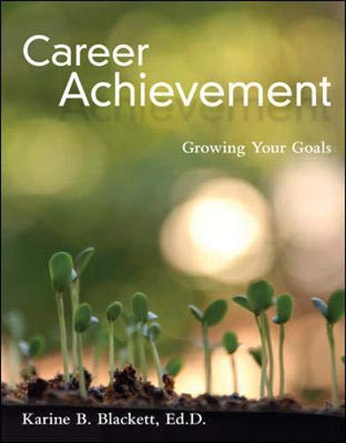 9780073377001: Career Achievement: Growing Your Goals