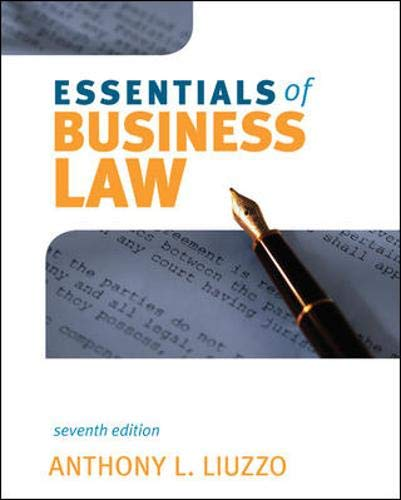 9780073377056: Essentials of Business Law