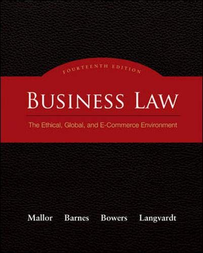 9780073377643: Business Law: The Ethical, Global, and E-Commerce Environment