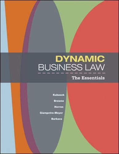 9780073377681: Dynamic Business Law: The Essentials