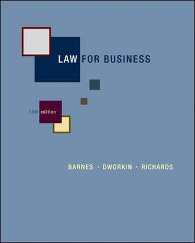 9780073377711: Law for Business
