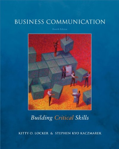 9780073377728: Business Communication: Building Critical Skills