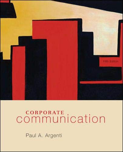 9780073377735: Corporate Communication